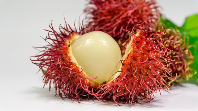 fruta exótica rambután