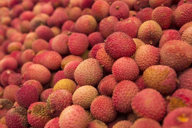 fruta tropical exótica Lichi