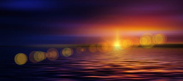 puesta de sol en mar rojo
