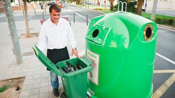 contenedor verde claro