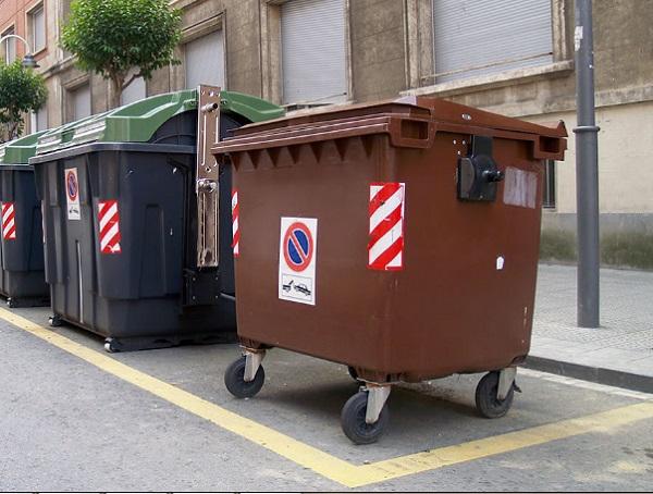 contenedor marrón para reciclar
